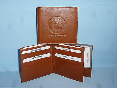 CHICAGO CUBS   Leather BiFold Wallet    NEW    brown 4 +