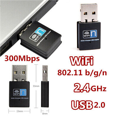 MINI WIFI WIRELESS Adapter Stick USB 2 0 Dongle 300 Mbps