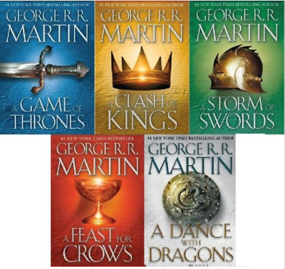 The Game of Thrones Series by George RR Martin - Unabridged 5 AUDIOBOOKS ( MP3 )
