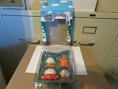 Comedy Central South Park Collectible Figurine Set 1998 Stand, Kyle, Cartman MIB