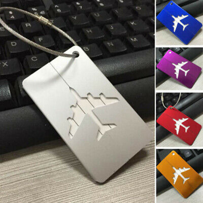 Travel Aluminium Plane Luggage Baggage Tag Suitcase Label Name Address ID RLM816