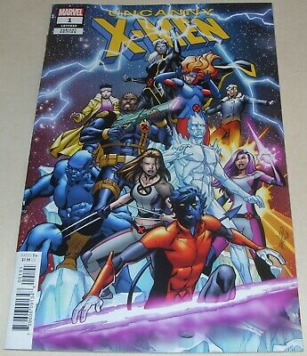Uncanny X-Men No 1 Marvel Comic Limited Variant Cover From January 2019 Brisson