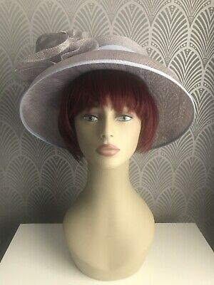 BNWOT Jacques Vert Mother of the Bride Hat Lilac Blue Flower Wedding