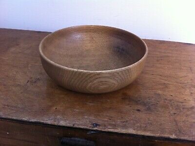 NICE OLD SMALL DECORATIVE WOODEN BOWL 6.2 inches