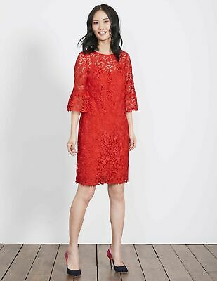 New Boden Brittany Lace Dress in Red (W0027) - UK 10R - RRP £130