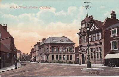 Warwickshire postcard HIGH STREET, SUTTON COLDFIELD early 1900's by Valentines