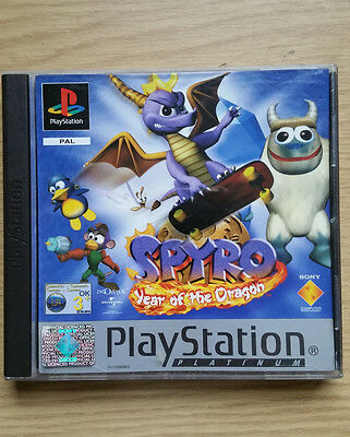 Spyro / Year Of The Dragon / Platinum / PAL Boxed Complete/ Sony PlayStation PS1