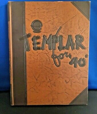Temple University Yearbook Templar For 1940 no writing