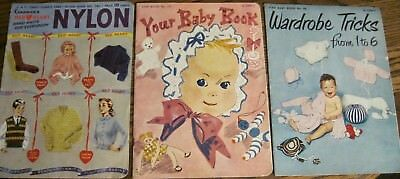 3 Vintage Baby Knit Crochet Books for Children and Baby Clothing & Accessories
