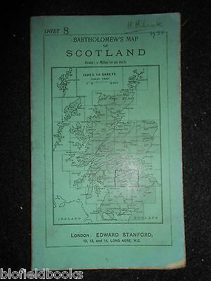 Vintage Bartholomew's Map to Scotland, c1933  Glasgow, Edinburgh, Stirling (8)