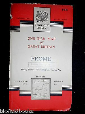 Vintage Ordnance Survey Map of FROME - 1959 - Westbury, Wells, Wiltshire, S Bath
