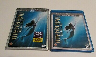 Disney The Little Mermaid 3D Blu Ray & DVD With Case Excellent Condition used