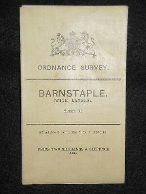 Vintage Ordnance Survey (O/S) Map of Barnstaple - 1909 -  Sheet 31 - Somerset