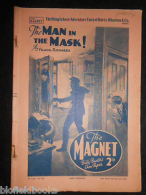 The Magnet; Billy Bunter's Own Paper - WWII Era Boy's Comic - December 9th 1939