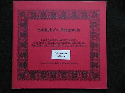Sotheby's Belgravia; Sale of Lead Soldiers, Games, Clockwork Toys, Automata 1978