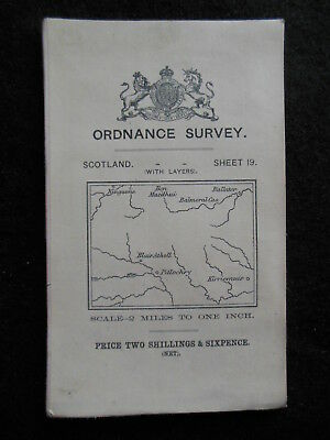 Edwardian Ordnance Survey Map of Blair Atholl/Pitlochry 1911 - Sheet 19 Scotland