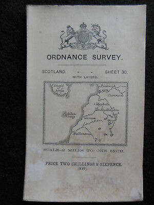 Edwardian Ordnance Survey Map of Ayr, Girvan, Ayrshire 1909 - Sheet 30, Scotland