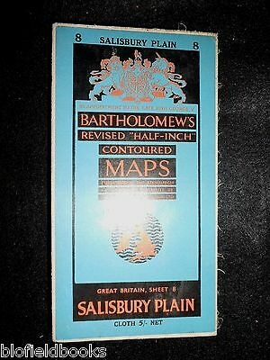 Vintage Ordnance Survey Map of Salisbury Plain - 1951 - Wiltshire/Paper on Cloth