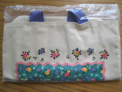 NEW NOS Junior Girl Scouts Tote Bag Flowers Purple Handles SUPER CUTE