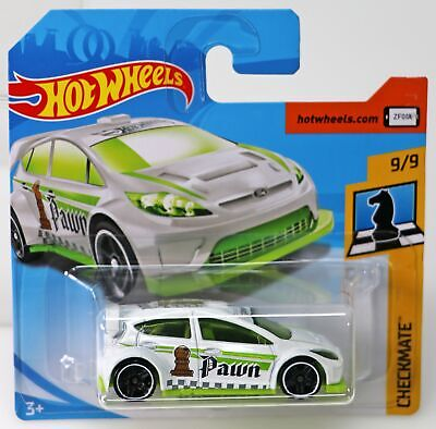 /'12 FORD FIESTA ✰white//green;Pawn♛CHECKMATE♛case fresh♛2018 Hot Wheels Loose