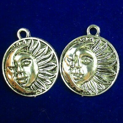2Pcs 23x2mm Carved Tibetan Silver Round Son Of The Sun Pendant Bead D83352