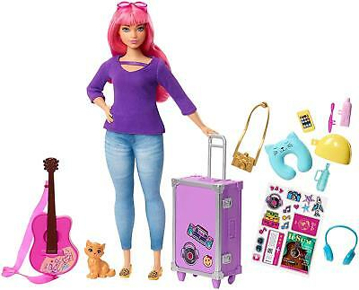 Barbie Doll Daisy Travel with Accessories and Kitten DREAMHOUSE ADVENTURES