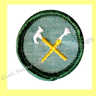 HANDYWOMAN 1960-62 ONLY Girl Scout Intermediate Badge RARE Patch Lt. Green