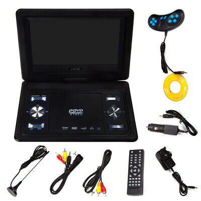 13.9'' Inch Portable HD TV DVD Player 16:9 LCD 270° Swivel Screen 110-240V UK