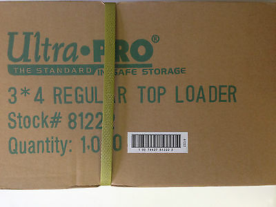 ULTRA PRO 3x4 REGULAR TOP LOADER CASE ( 1,000 COUNT ) READ DESRIPTION
