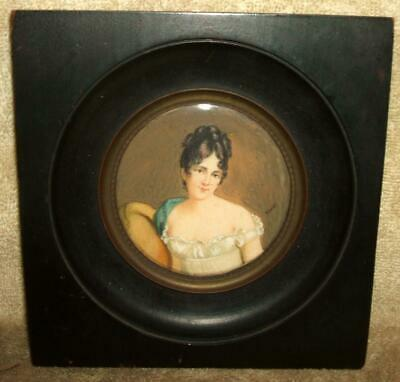 """Early 1800's Miniature Painting - Princess Marie Thérèse Signed """"Sicard"""""""