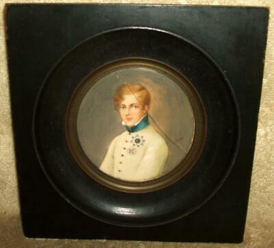 """Early 1800's Miniature Painting - Louis XVII signed """"Gérard"""""""