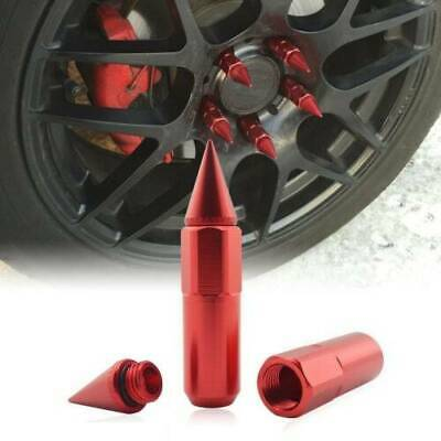 Red Spiked Extended Tuner 60mm Lug Nuts Wheels / Rims M12X1.25 For Nissan Subaru