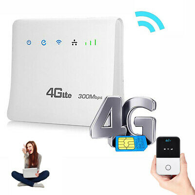 150/300Mbps 4G Wireless Router Mobile Wifi SIM Card Wireless CPE with LAN Port