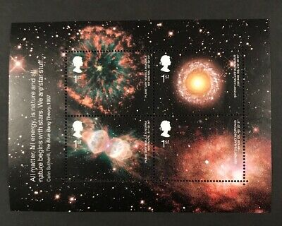 GB 2002 Astronomy unmounted mini / miniature sheet MNH stamps