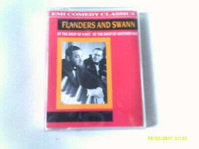 Flanders And Swann- At the drop Of A Hat  (comedy)  2x Cassette  EX