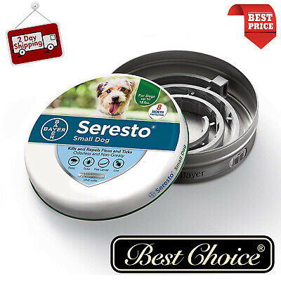 Seresto Flea & Tick 8 Months Collar for Small Dogs up to 18lbs - 8kg Free Ship