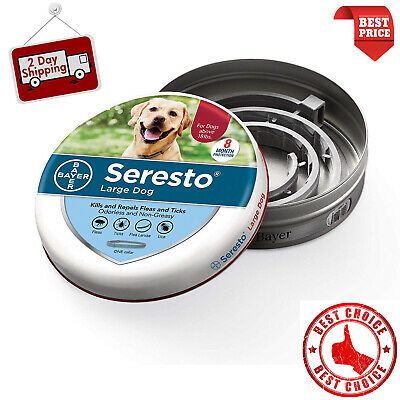 Bayer Seresto Flea & Tick Collar for Large Dogs above 8kg -18 lbs Free shipping