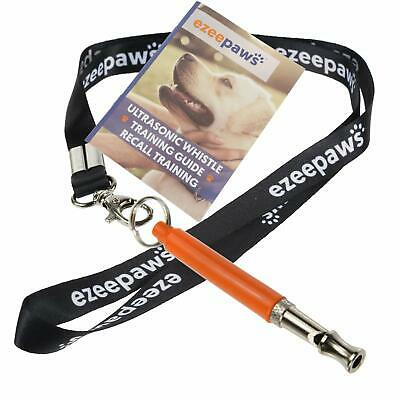 Professional Dog Whistle with Lanyard and Recall Dog Training Book Guide Orange