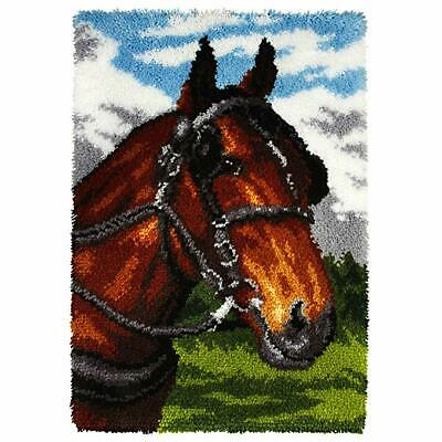Horse Latch Hook Kit, Rug Making Kit By Orchidea, 50x74.5cm Printed canvas
