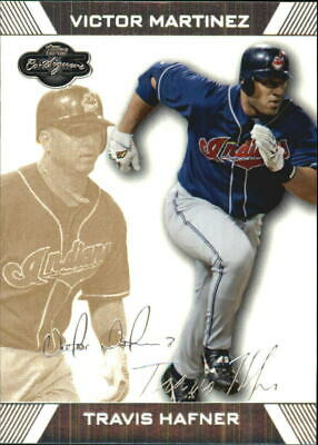 2007 Topps Co-Signers Gold #5A Travis Hafner/Victor Martinez/225 - NM-MT