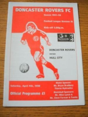 04/04/1998 - Doncaster Rovers v Hull City [Last League