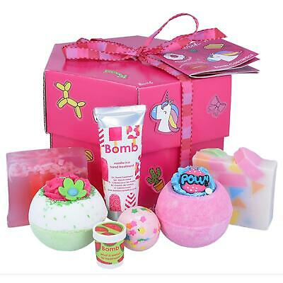 Bomb Cosmetics Stick With Me Pamper Box Bath Bombs Soap & Cream Body Gift Set