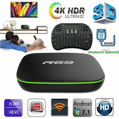 Lot R69 Smart Android7.1 TV Box 4K 1+8G H3 Quad Core 2.4GHz WiFi 3D Media Player