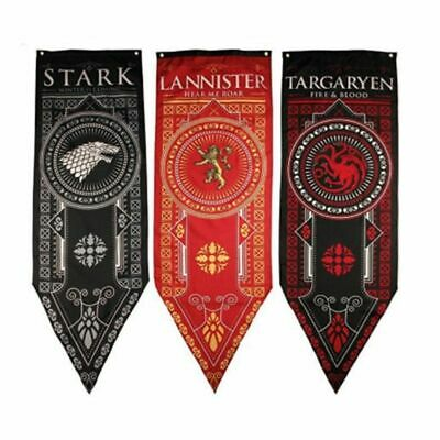 Game of Thrones House Stark Targaryen Lion Banner Flag Wall Hanging Home Decor