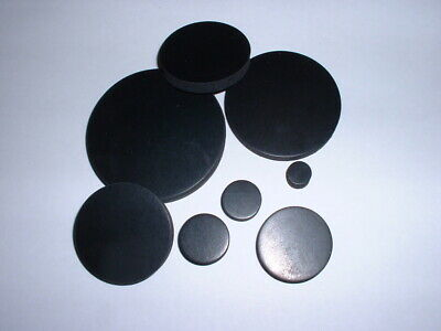 6Mm Thick Black Neoprene Anti Vibration Flat Pad Round Disc Rubber Mounts 4Pk