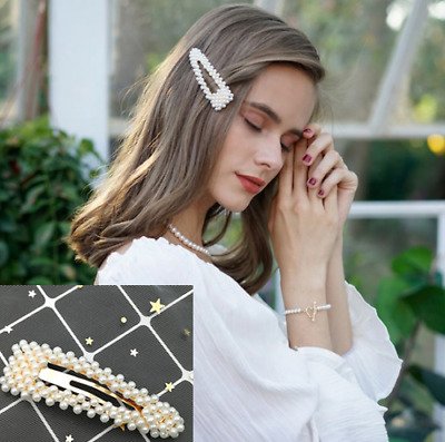 Fashion Girl Pearl Hair Clip Hairband Comb Bobby Pin Hot Barrette Hairpin