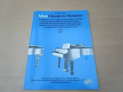 """Vintage """"More Classics To Moderns 2"""" Sheet Music Book For Piano"""