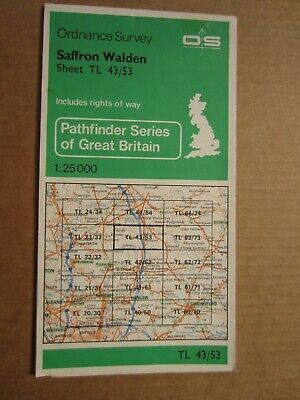 OS map Pathfinder Saffron Walden TM 43/53 Essex  1:25 000 4cm - 1 km