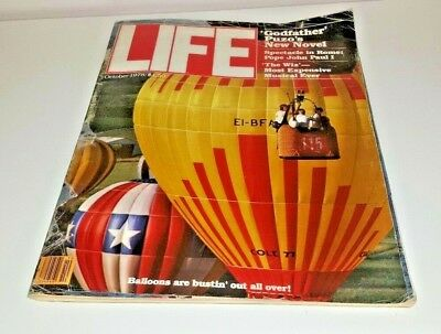October, 1978 LIFE Magazine Hot air balloons  ads FREE SHIPPING Dec 12 NEWS 70s