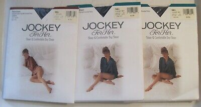 4ed1c1a74f2cb Lot of 3 NEW Jockey for Her Body Shaper Pantyhose Small Navy 1969 Off Black  1953